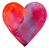 Watercolor Painted Red Heart Royalty Free Stock Photos