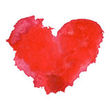 Watercolor painted red heart Royalty Free Stock Images
