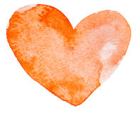 Watercolor painted red heart Royalty Free Stock Image