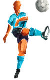 Watercolor painted soccer player Royalty Free Stock Photos