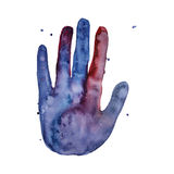 Watercolor painted space palm vector illustration
