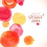 Watercolor painted splash circles texture Stock Image