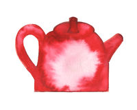 Watercolor painted teapot Royalty Free Stock Photography
