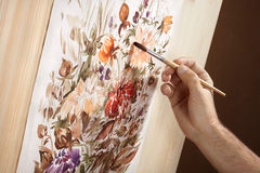 Watercolor painter Stock Photography