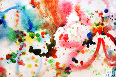 Watercolor painting Stock Photos