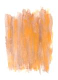 Watercolor Painting. Brown and orange toned watercolor painting on white Stock Photos