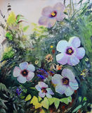 Watercolor painting of the beautiful flowers Stock Images