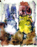 Watercolor painting Stock Photo