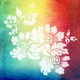 Watercolor painting. Blue, white, pink, yellow Royalty Free Stock Photo