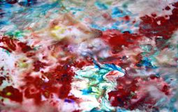 Blue red pink pastel colors, bright pastel paint acrylic watercolor background, colorful texture. Watercolor painting bright fluid abstract background red blue royalty free stock images