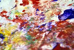 Pink gray orange blue spots pastel colors, bright pastel paint acrylic watercolor background, colorful texture. Watercolor painting bright fluid spots abstract stock photos