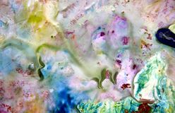 Vivid blue pink green white pastel colors, bright pastel paint acrylic watercolor background, colorful texture. Watercolor painting bright soft fluid abstract royalty free stock photos