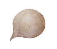 Watercolor painting of brown speech bubbles. banners for text or icons Royalty Free Stock Photos
