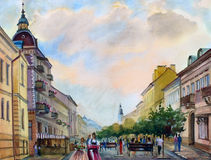 Watercolor painting Stock Images