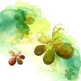 Watercolor painting of flower Stock Photos