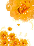 Watercolor painting of flower stock illustration