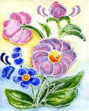Watercolor painting of flowers. Watercolor a bouquet with hand bells on a white background Royalty Free Stock Photos