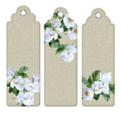 Watercolor Painting Flowers Bookmark royalty free illustration