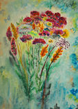 Watercolor painting, flowers Royalty Free Stock Image