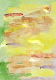 Watercolor painting impression. Of the Golden autumn Royalty Free Stock Images