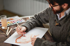 Watercolor painting Royalty Free Stock Photography
