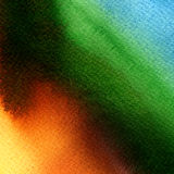 Watercolor painting. orange, green, blue gradient Royalty Free Stock Photo