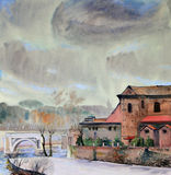 Watercolor painting of Rome Royalty Free Stock Photography