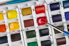 Watercolor Painting Set Stock Images
