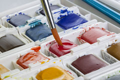 Watercolor Painting Set Royalty Free Stock Photo