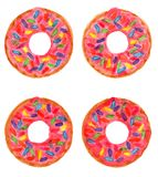 Donuts with sprinkles Stock Images