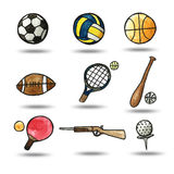 watercolor painting sport object Stock Photography