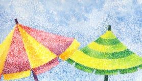 Two umbrellas Stock Photo