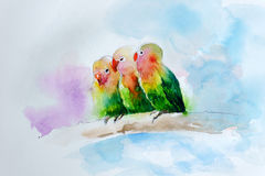 Watercolor painting Royalty Free Stock Images