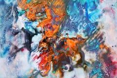 Blue orange watercolor paint, soft mix colors, painting spots background, watercolor colorful abstract background. Watercolor painting vivid abstract spots royalty free illustration