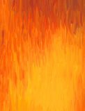 Watercolor painting in warm colour shades. Watercolor painting in warm orange and yellow colour shades, like fire flames Royalty Free Stock Photography