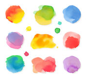 Watercolor paintings vector icons Stock Image