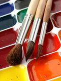 Watercolor paints Royalty Free Stock Photography