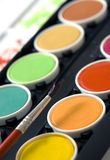 Watercolor paints Royalty Free Stock Photos