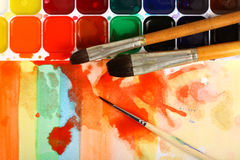 Watercolor paints Royalty Free Stock Image