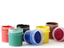Watercolor paints. Set of the watercolor paints at the white background Royalty Free Stock Image