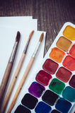 Watercolor paints Stock Image