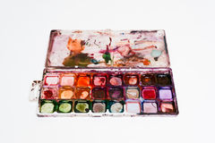 Watercolor paints Stock Photo