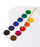Watercolor paints isolated. On a white background Royalty Free Stock Images