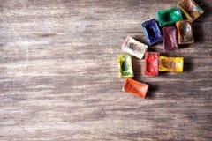 Watercolor paints Stock Images