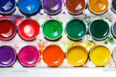 Watercolor paints. Paintbox Royalty Free Stock Photo