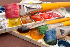 Watercolor paints set Royalty Free Stock Image