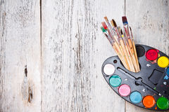 Watercolor paints set Royalty Free Stock Photography