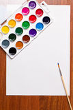 Watercolor paints on a white background Stock Image