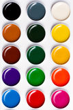 Watercolor paints on a white background Royalty Free Stock Photo