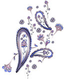 Watercolor Paisley Design Stock Photography